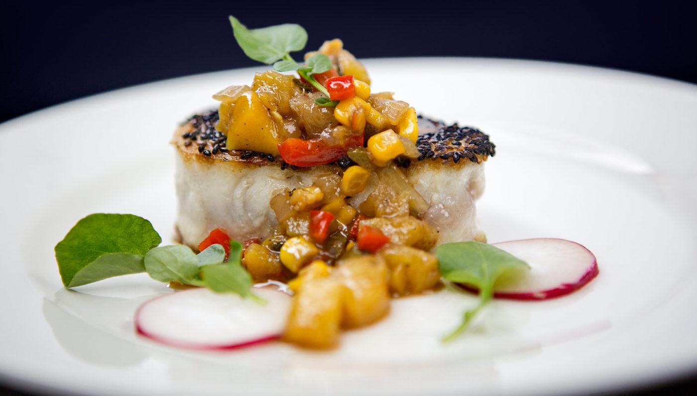 Angry Seas - Fish Recipes - Best Wahoo Recipe - Seared Sesame Seed and Pineapple Chutney