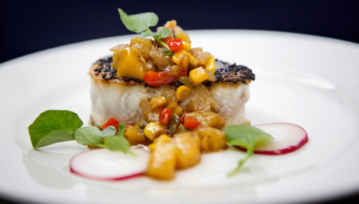 Angry Seas - Fish Recipes - Best Wahoo Recipe - Seared Sesame Seed and Pineapple Chutney