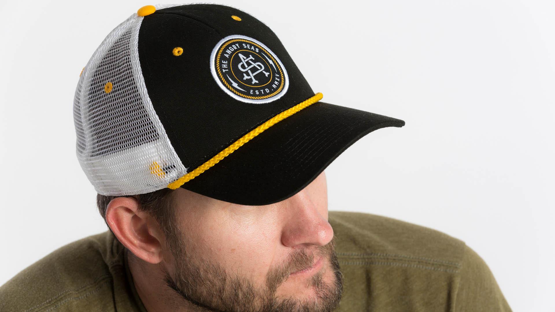 1614ed961 CAPTAIN'S HAT - Black Low Profile Mesh Snapback Hat