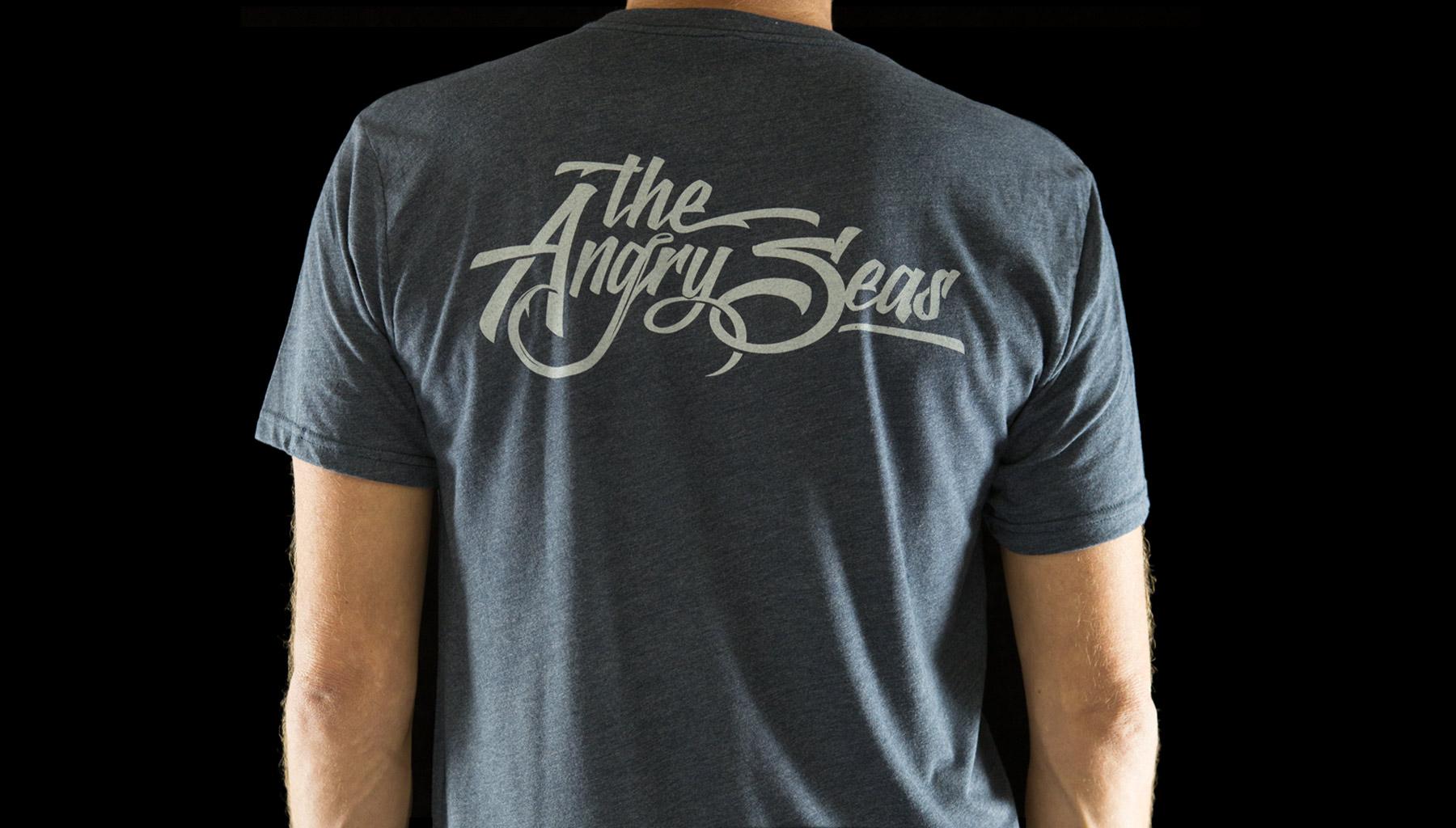 Script Logo Tri Blend T Shirt Angry Seas Gear
