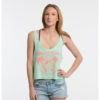"Product: ""ENDLESS BUMMER"" Tank Top // Description: Women's Cropped Tank Top // Color: Mint // Brand: The Angry Seas Clothing"