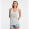 "Product: ""SINKING SHIPS"" Tank Top // Description: Women's Relaxed Fit Tank Top // Color: White // Brand: The Angry Seas Clothing"