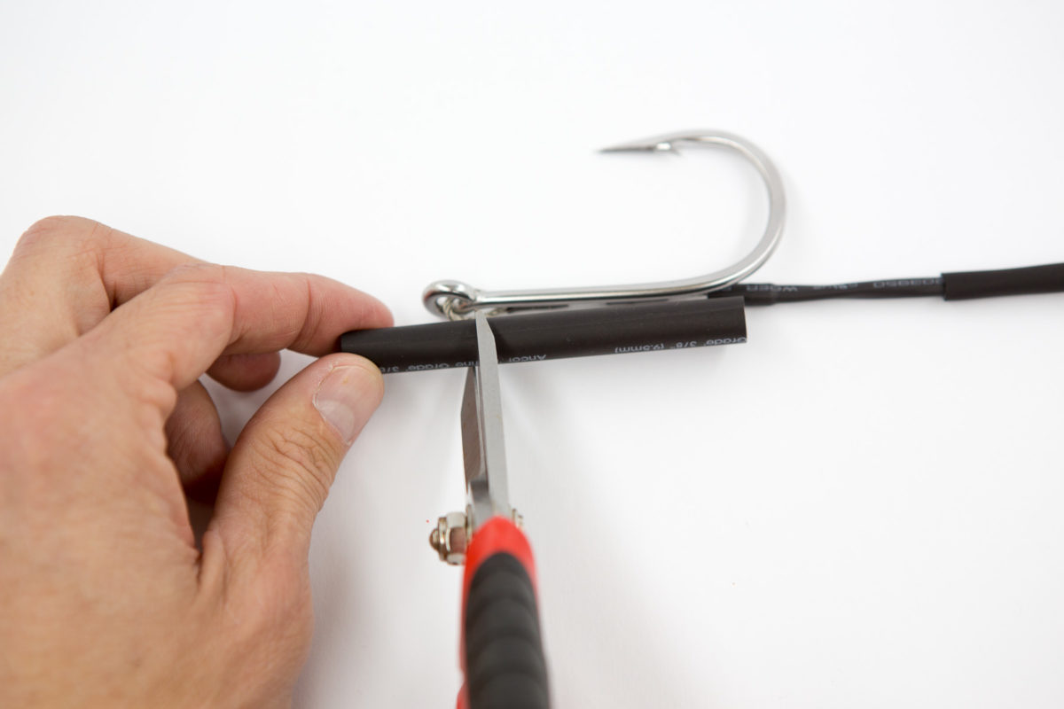 Proper length of heat shrink for wahoo lure