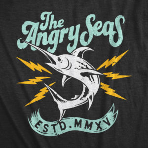 "Product: ""Deep Drop"" Tri-Blend T-Shirt // Description: Angry Seas tee with badass silkscreened design // Color: Vintage Black // Brand: The Angry Seas Clothing"
